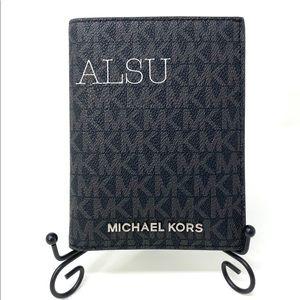Michael Kors MD Passport Case Leather Black Logo